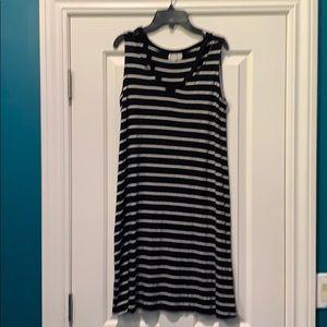 Maurices black and white stripe dress size medium